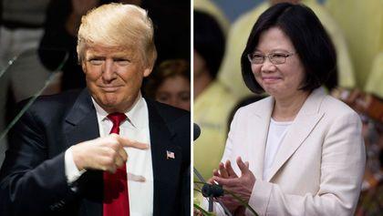 Tổng Thống Mỹ đắc cử Trump và Tổng Thống Đài Loan Thái Anh Văn
