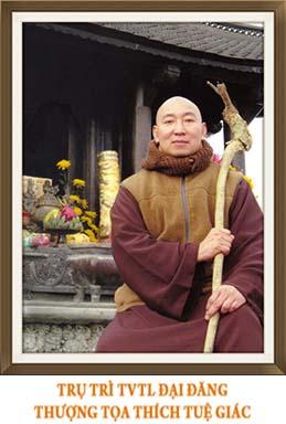Thuong toa Thich Tue Giac Dai dang