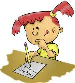 cartoon-picture-of-girl-writing-content